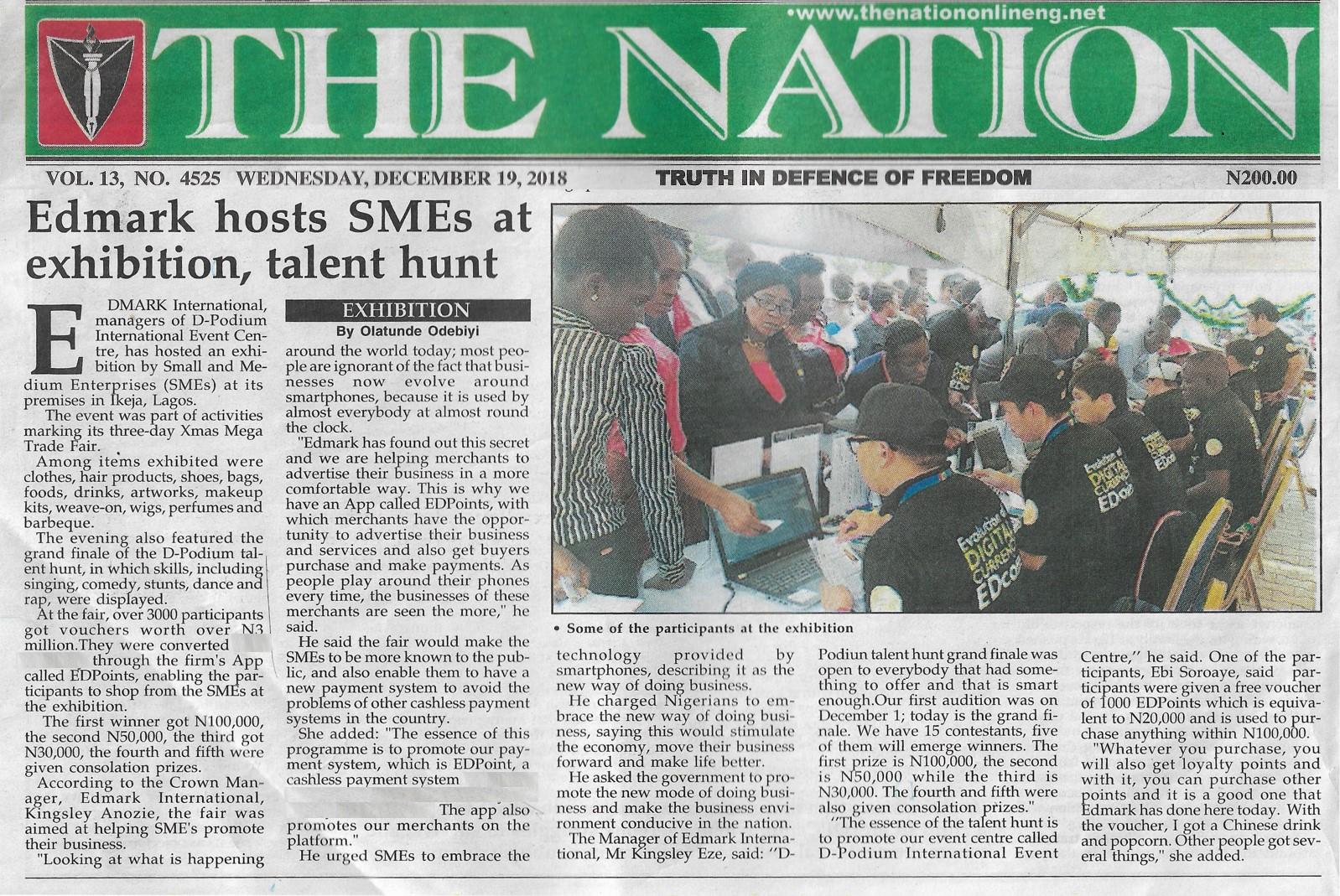 19 December 2018 – The Nation – XMas Mega Trade Fair