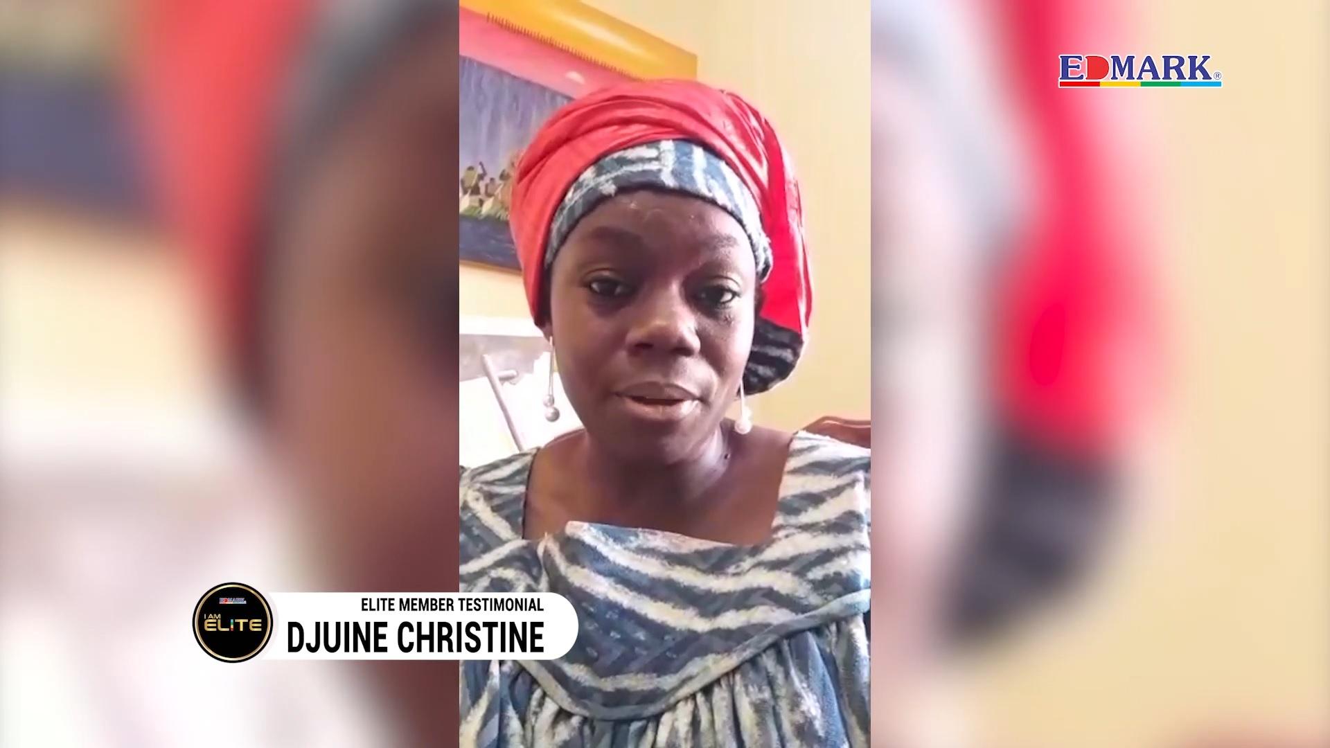 Elite Testimonial – Mgr Djuine Christine